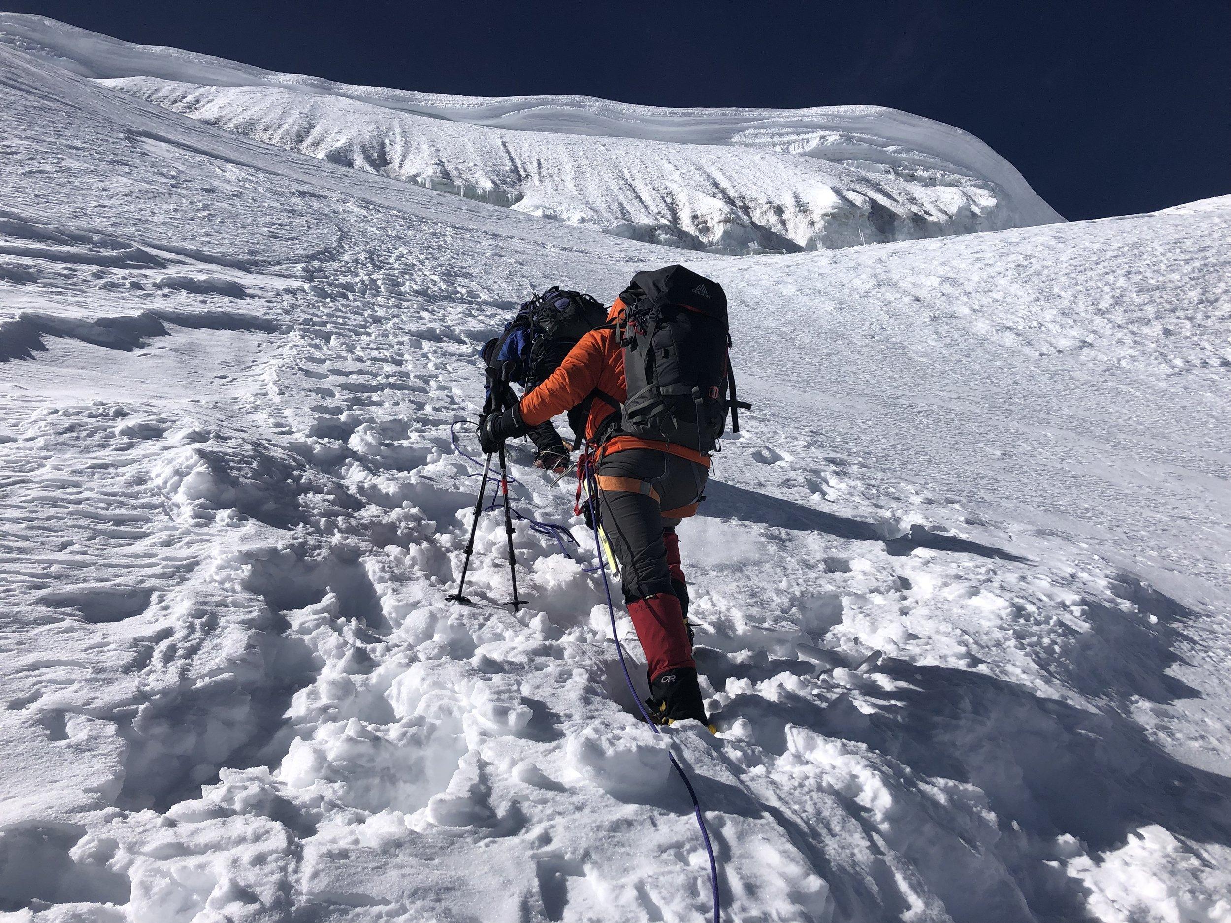 Coming close the the summit ridge.