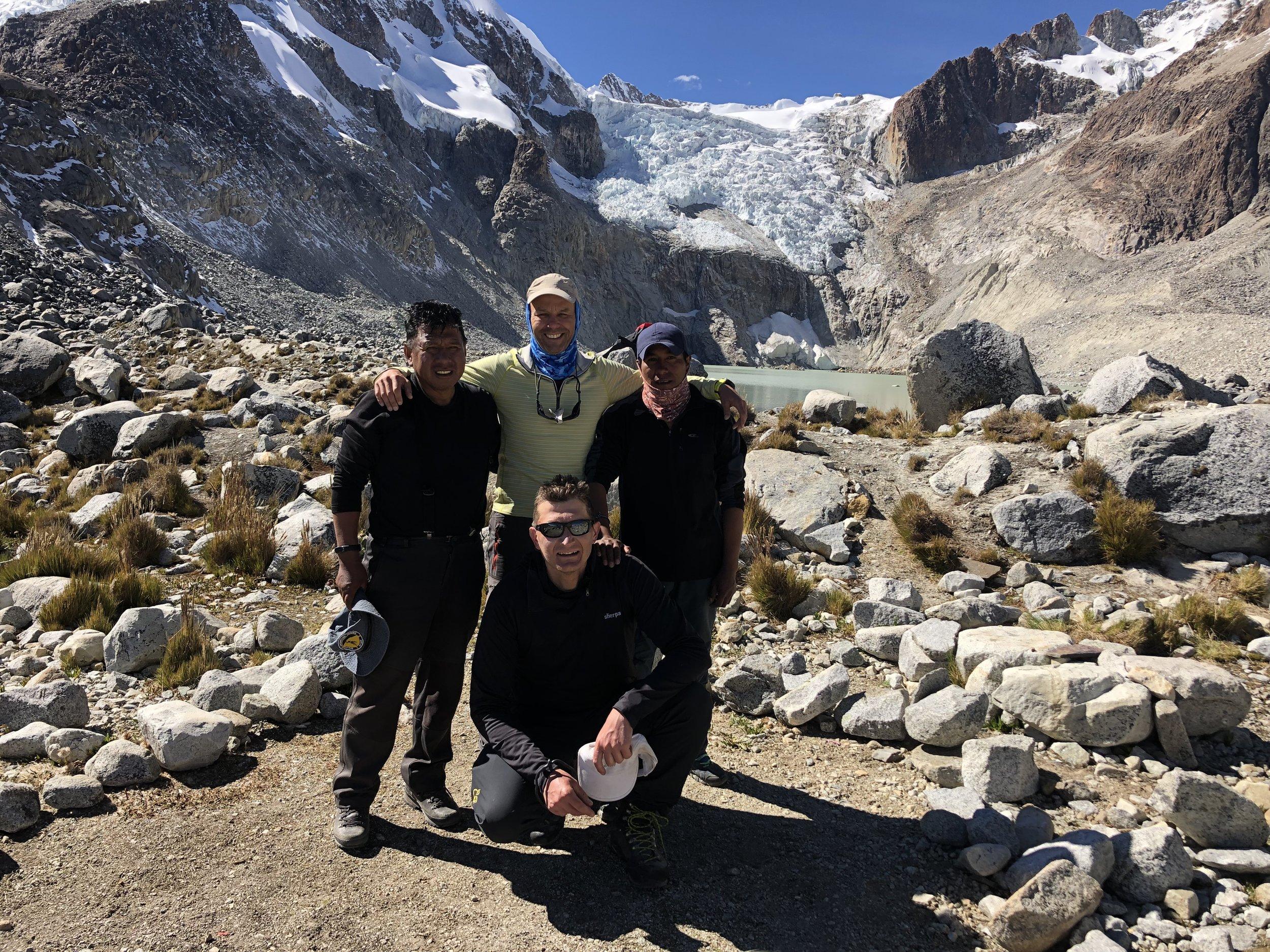 Our small team; Gregorio, Ricardo, Gilles and I