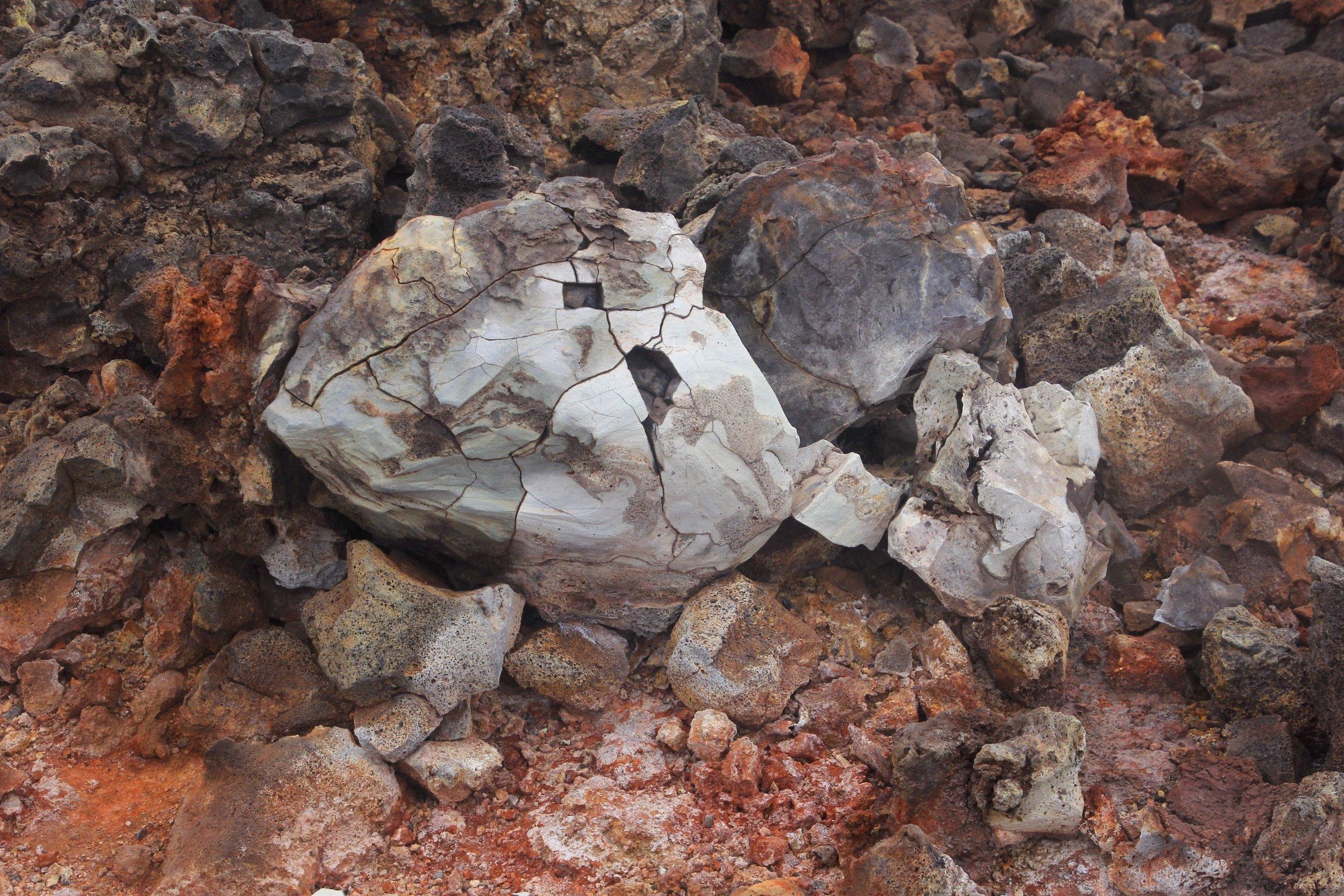 A lava bomb