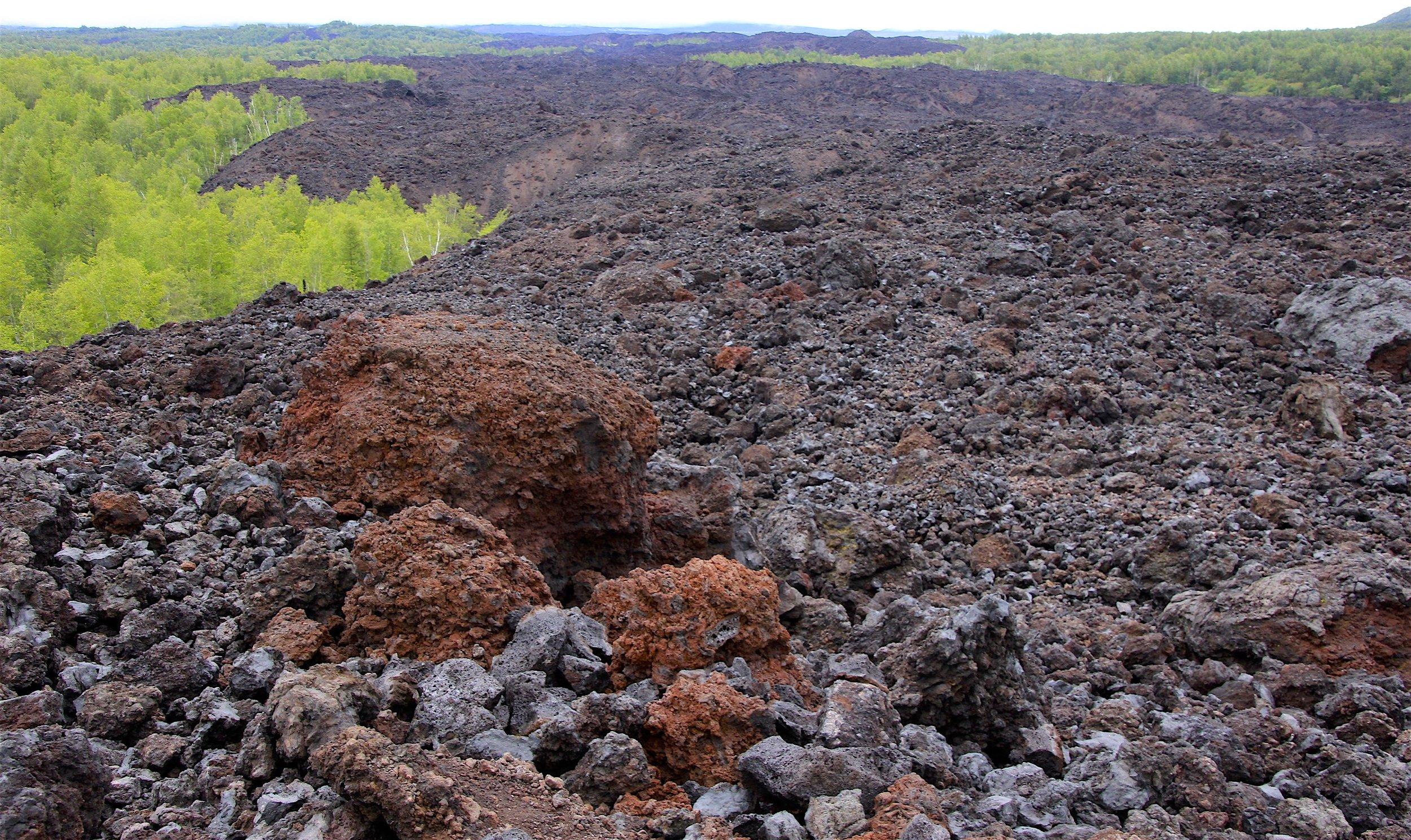 Massive lava field