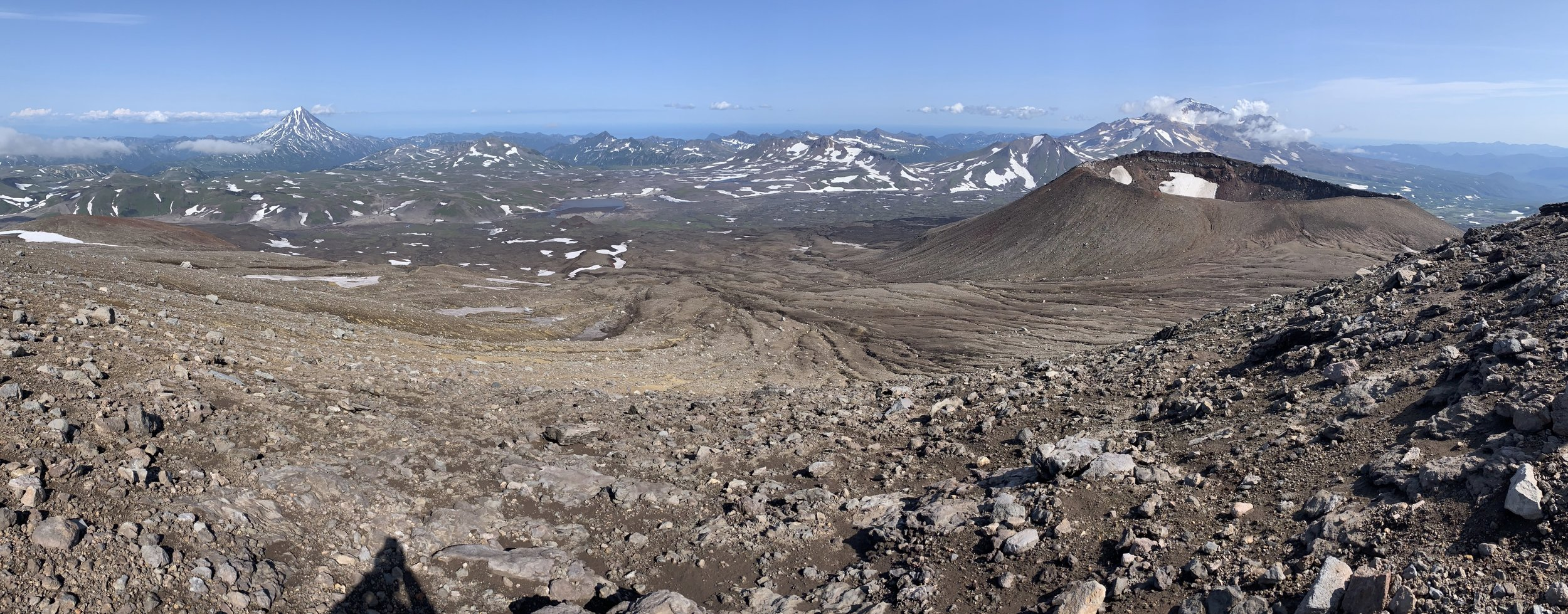 The view from the top of Gorely to the Mutnowsky Volcanic Plateau.