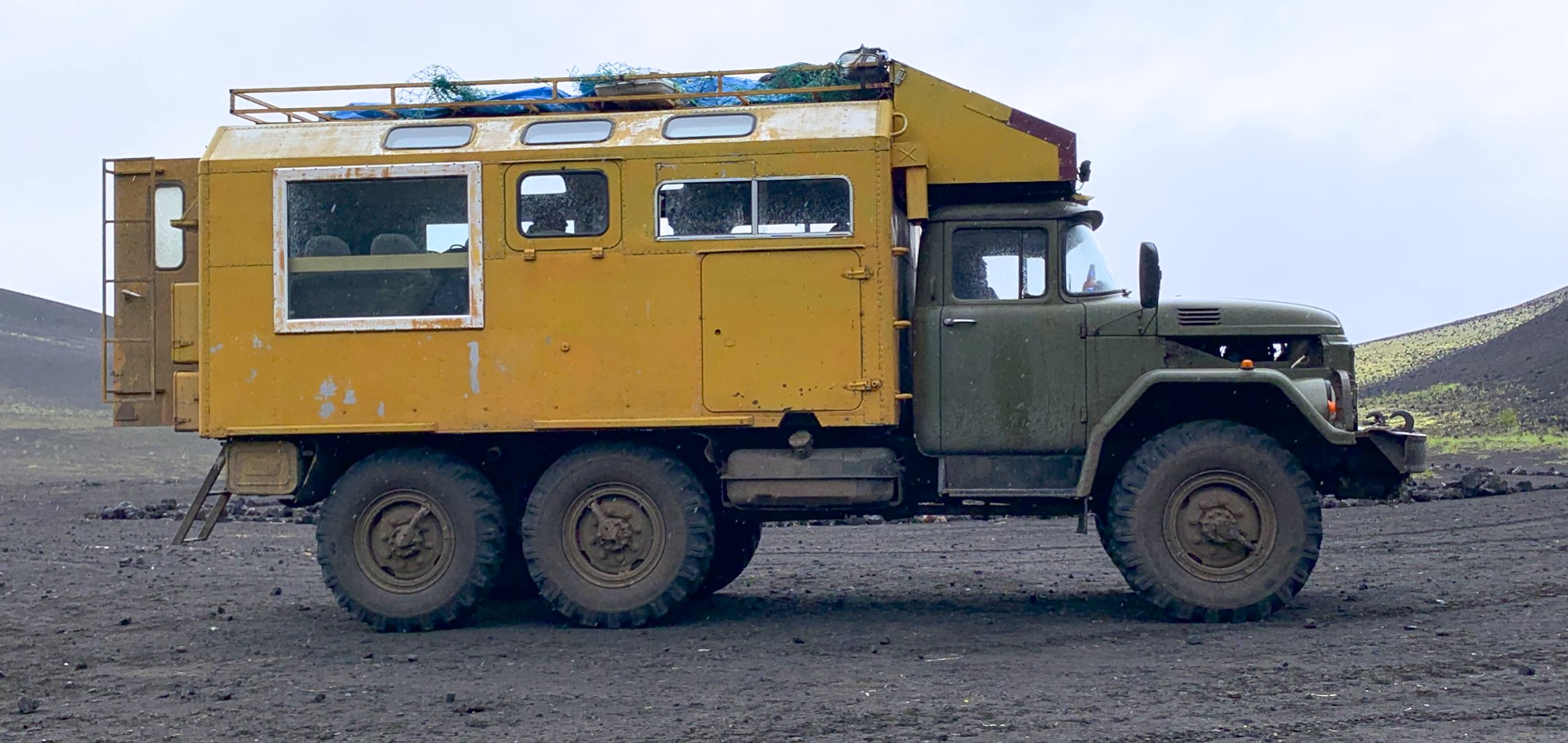 "Old Soviet ""Zil"" adapted to overland travel. According to the driver, there are not many original parts from the old truck left on it."