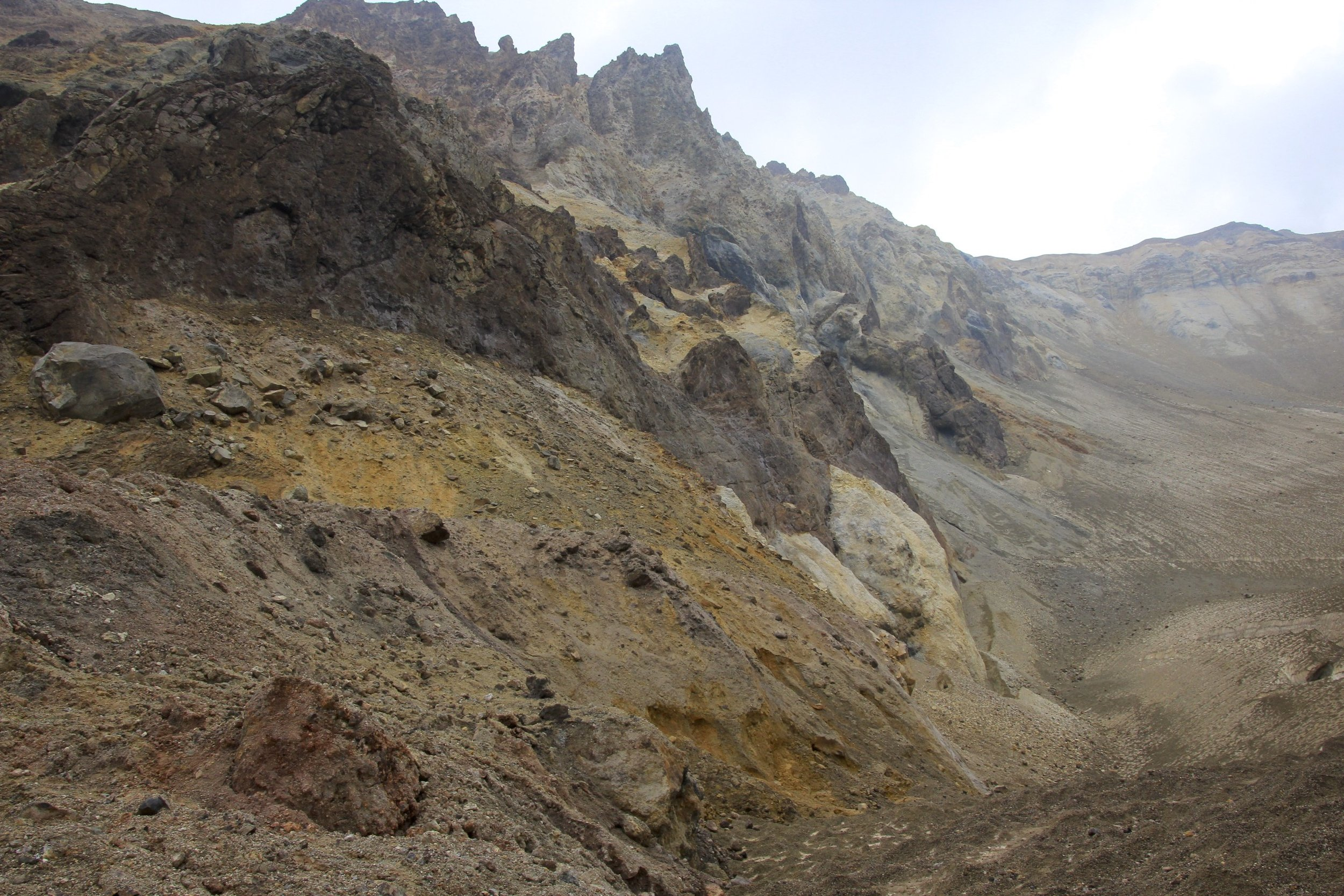 Massive walls of the crater. It felt like we were inside a castle from the Lord of the Rings.