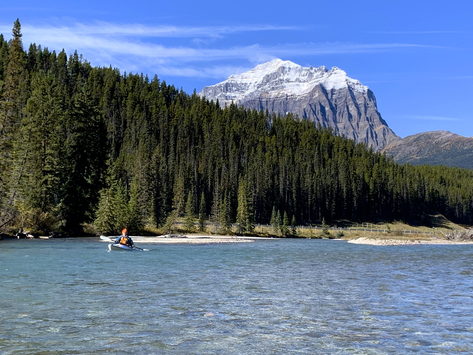 Bow River and Mount Temple in Banff National Park