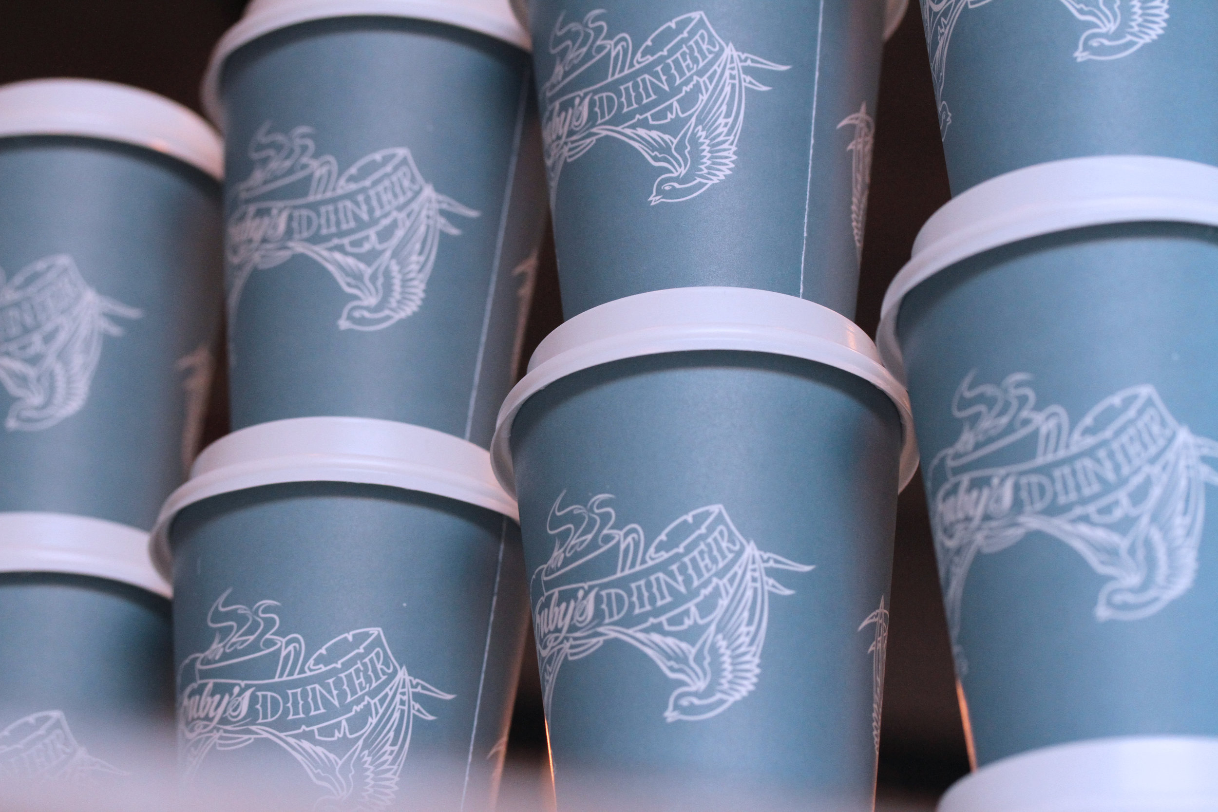 Takeaway Coffee - Take your coffee to go in our signature blue cup or bring your own reusable cup and save 20c