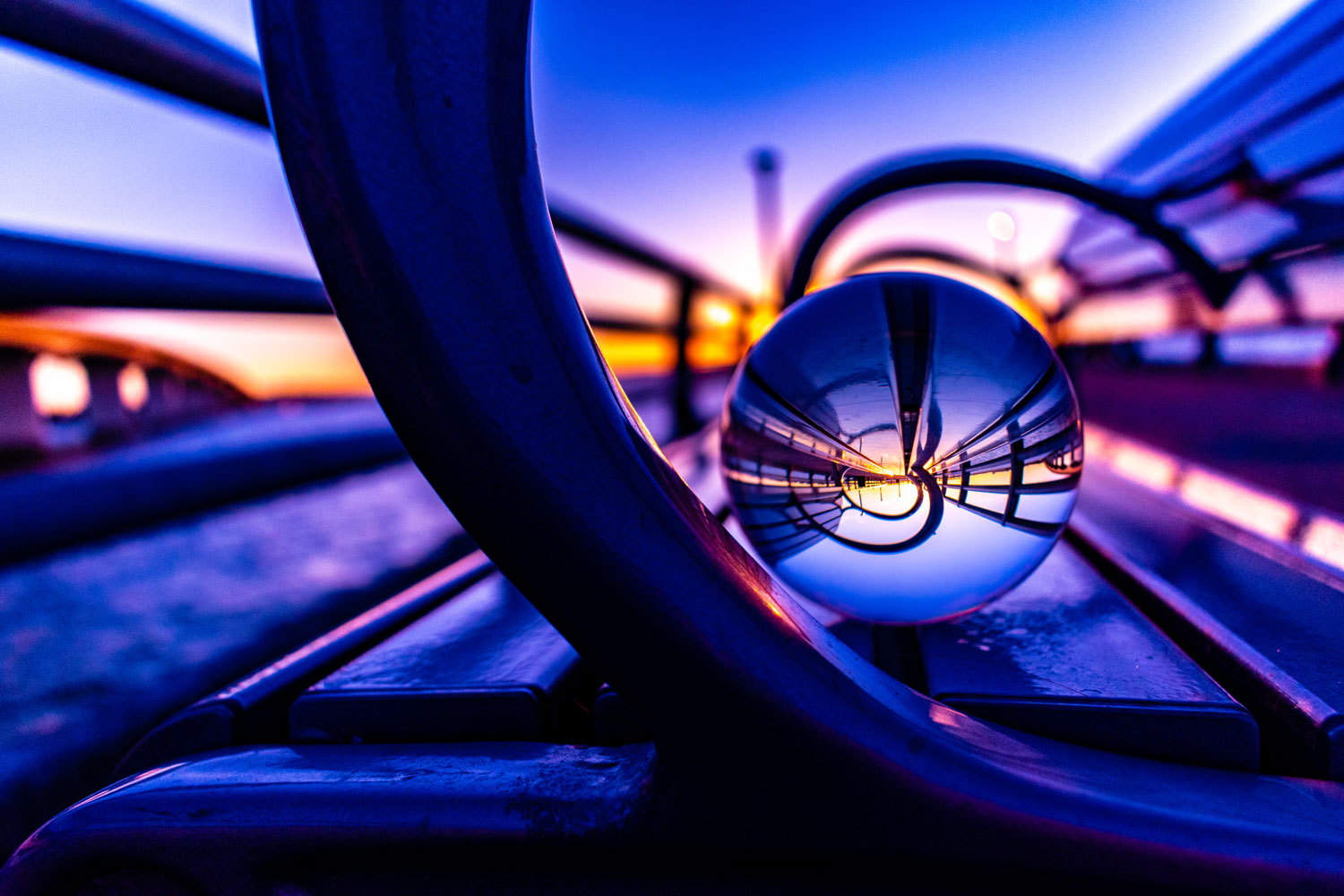 Glass-Ball-Bench-Reflection-Purple-Sunset.jpg