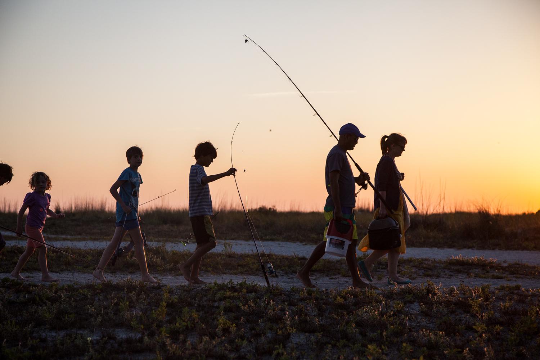 Family fishing fun.