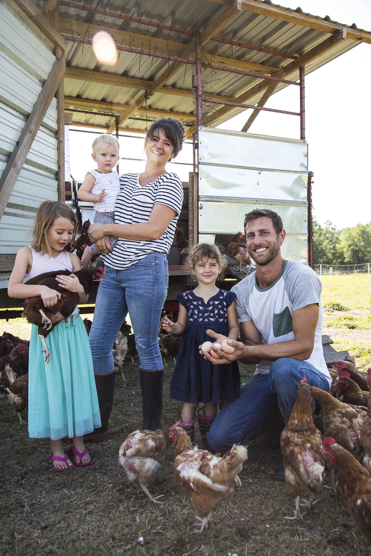 Grove Ladder Farm family