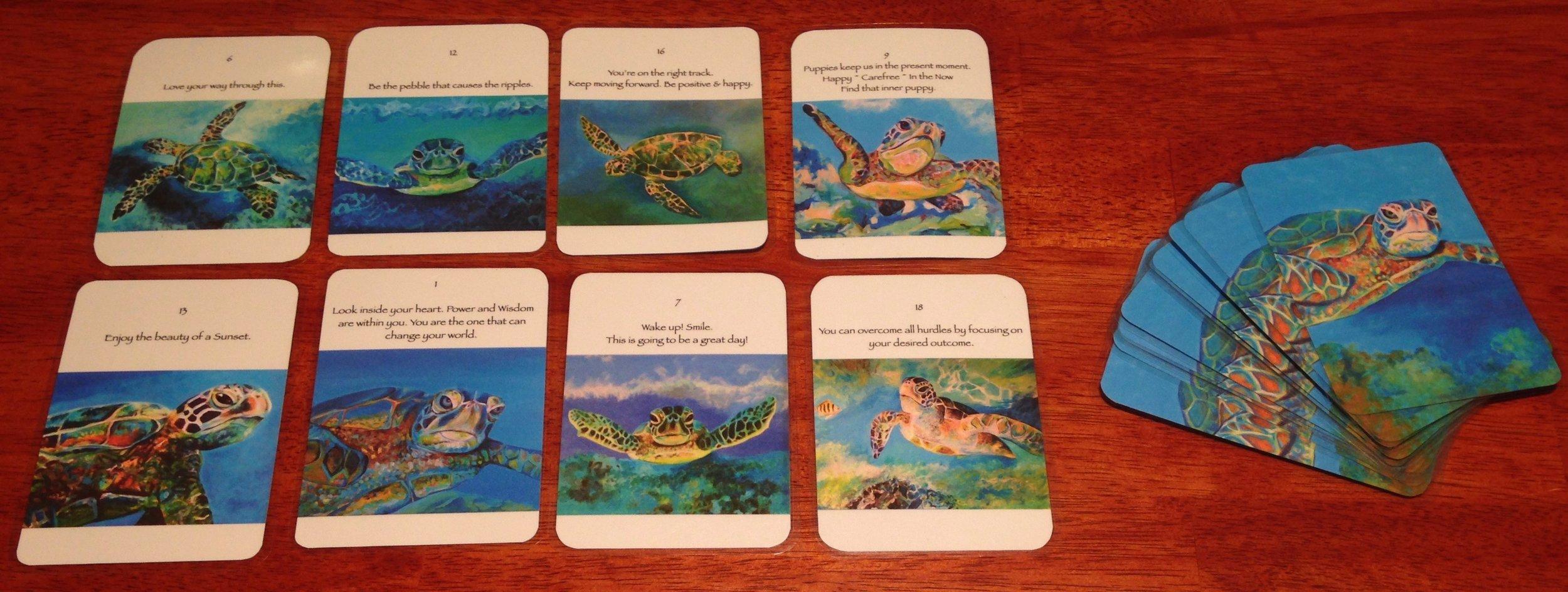 Honu Oracle cards display.jpg