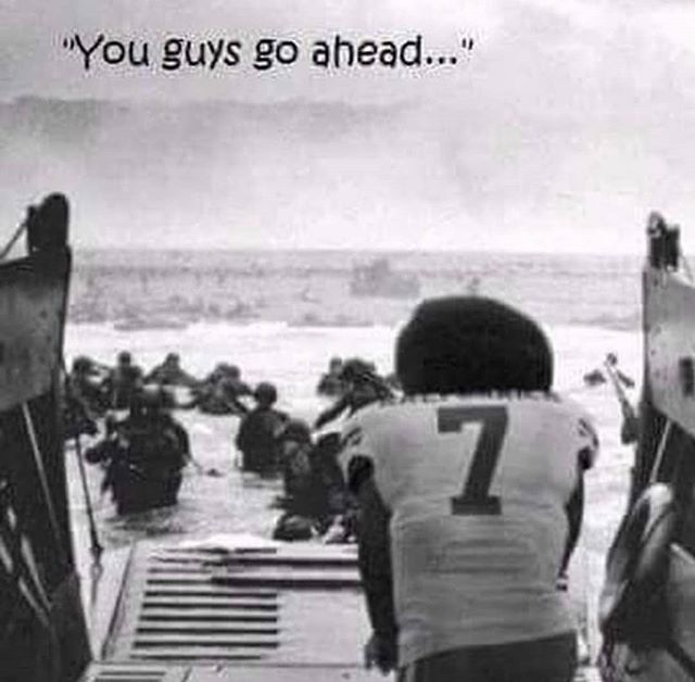 75 Years ago today, Operation Overlord (D-Day) kicked off. This is funny, but not really. Imagine if our fathers and grandfathers didn't step onto those beaches and many others across the globe.  #kapernicksucks #combat #veterans #dday @vfwhq #greatestgeneration #military #fuckyourknee