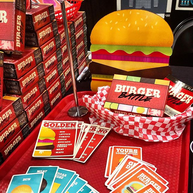 Burger Battle is at Origins Game Fair at booth 755 this weekend! Stop by to check it out! 🍔🤘 - #burgerbattle #burgerbattlegame #tabletop #tabletopgames #gaming #boardgames #cardgame #origins #originsgamefair #columbus #ohio