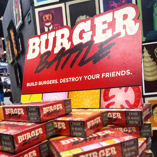 Burger Battle is at Gen Con! Stop by booth 43 in the Art Show to check it out! 🔥🍔🔥 - #gencon #gencon2019 #burgerbattle #burgerbattlegame #tabletopgames #cardgame #game #gaming