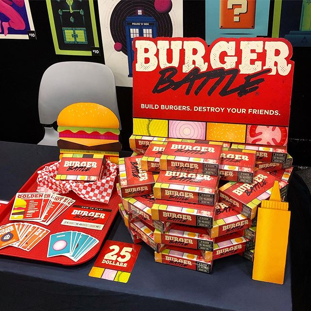 Come get some Burger Battle at DragonCon this weekend! Floor 4, booth B57! 🔥🍔🔥 - #dragoncon #atlanta #georgia #tabletop #cardgame #gaming #boardgame #burgerbattle #food #partygame #game burgerbattlegame