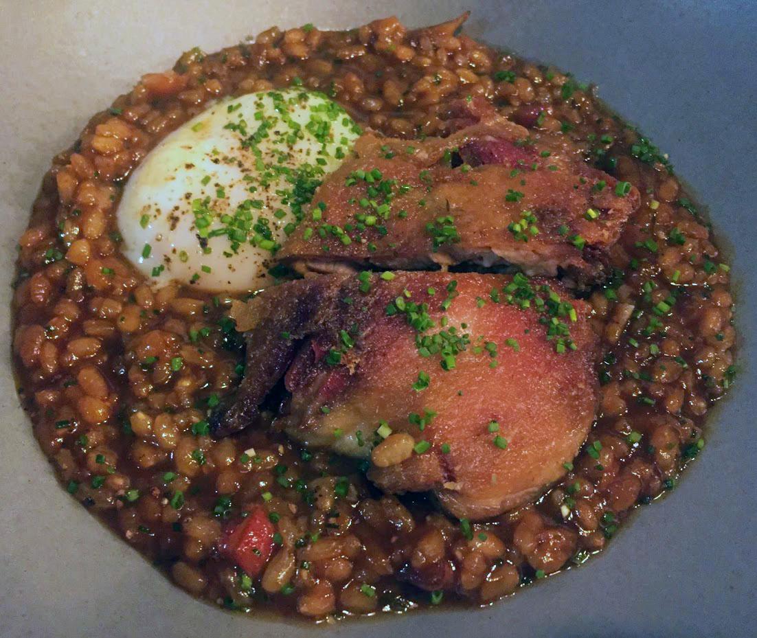 arroz meloso con pato at Loretta