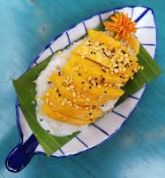 Thai mango y sticky rice