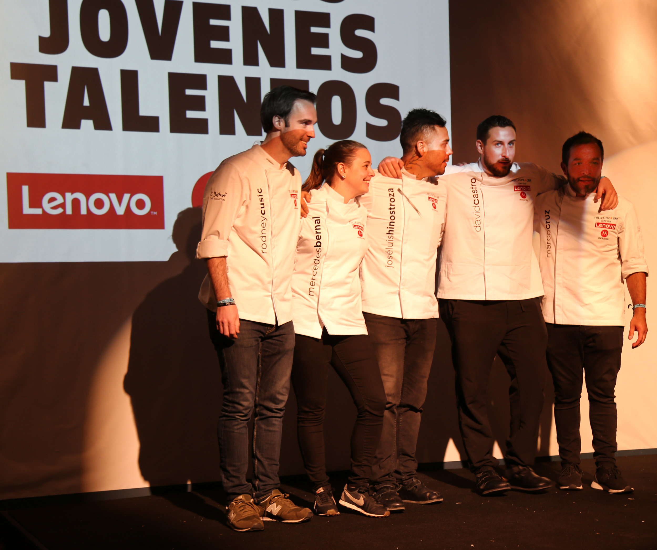 candidates for the young talent award, include the chefs of Meroma,, winner Hinostroza, Castro Hussong and Marco Cruz