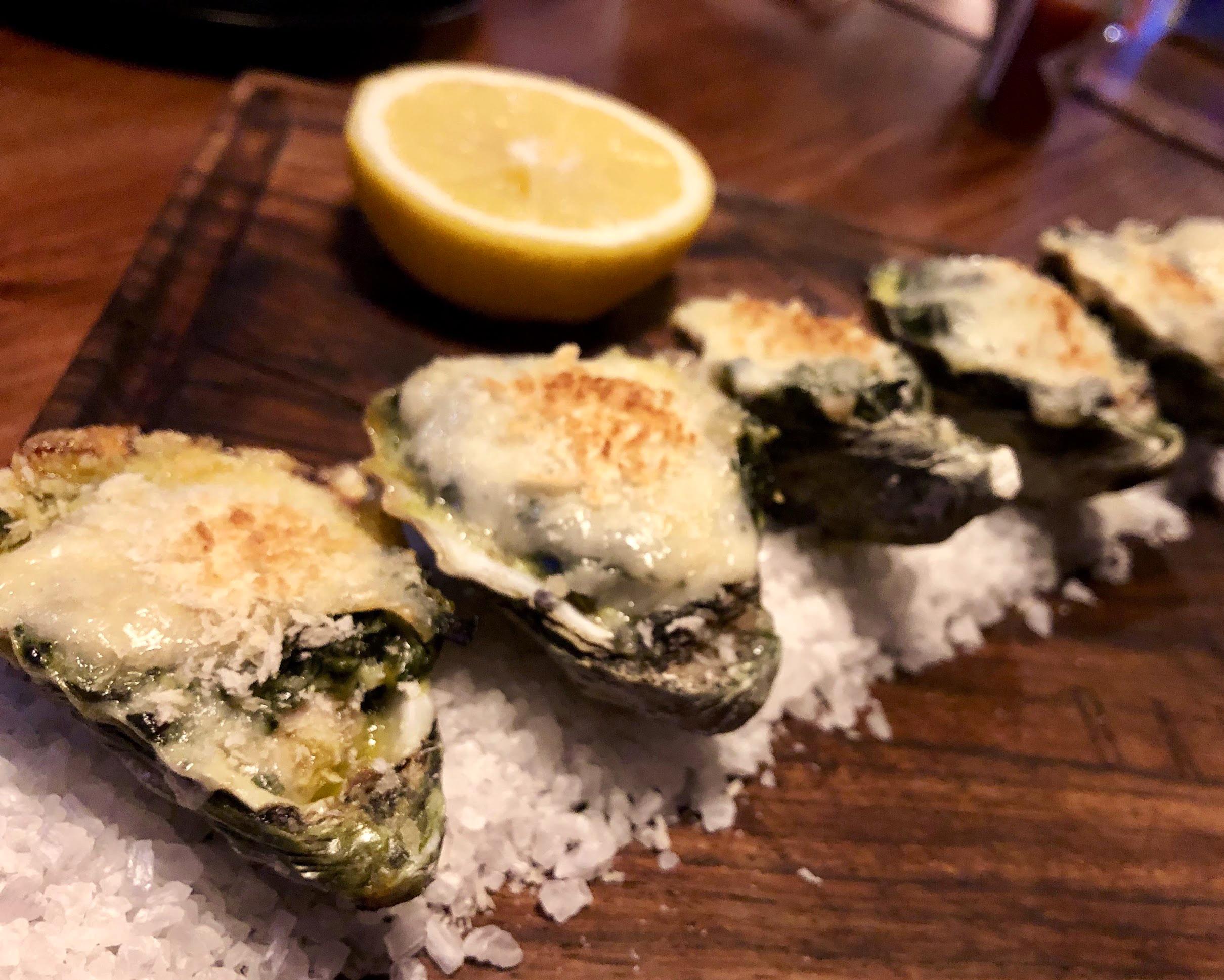 Oysters Rockefeller at La Barcaza