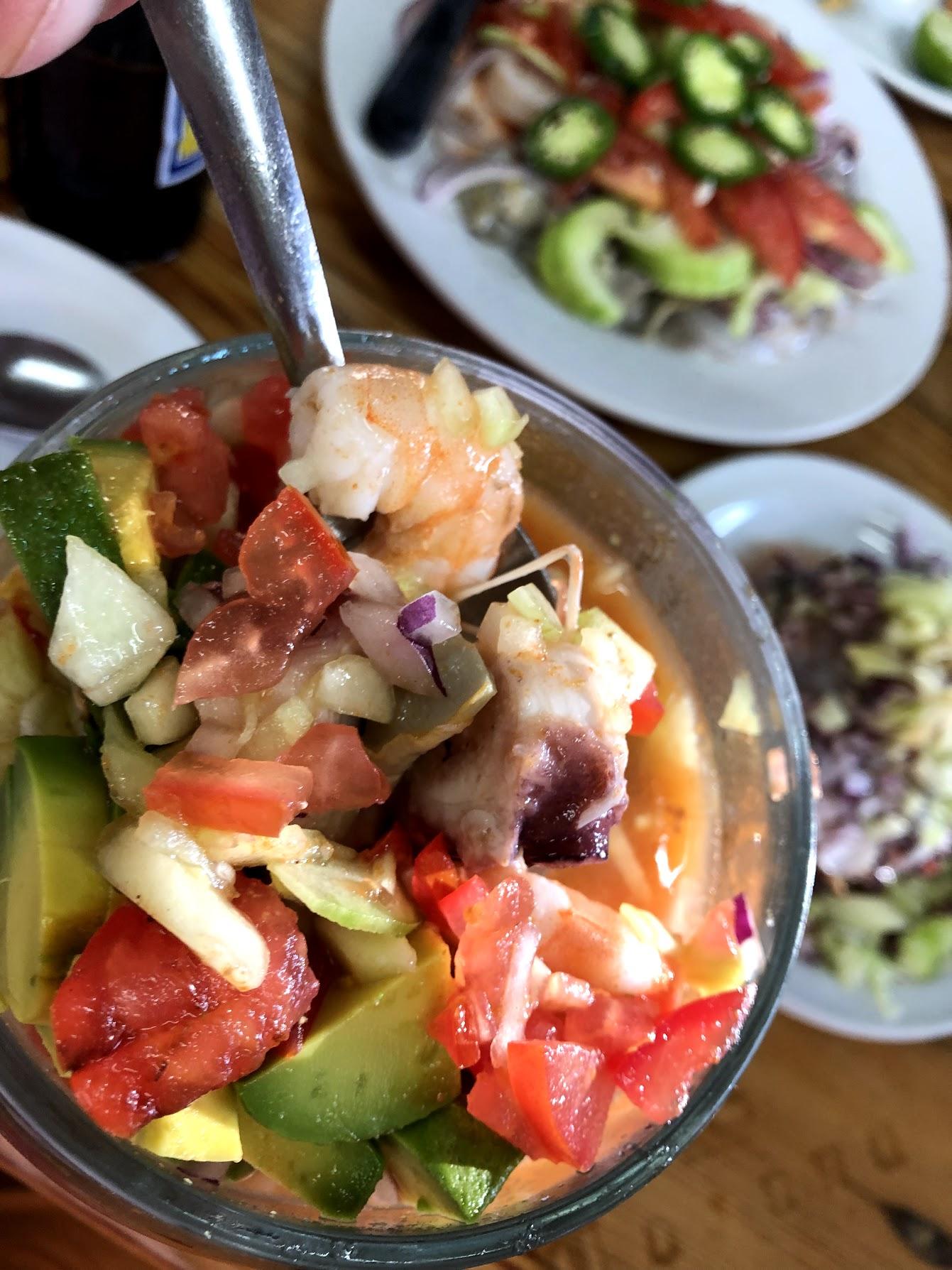 A mixed seafood coctailk @ El Toro G uero