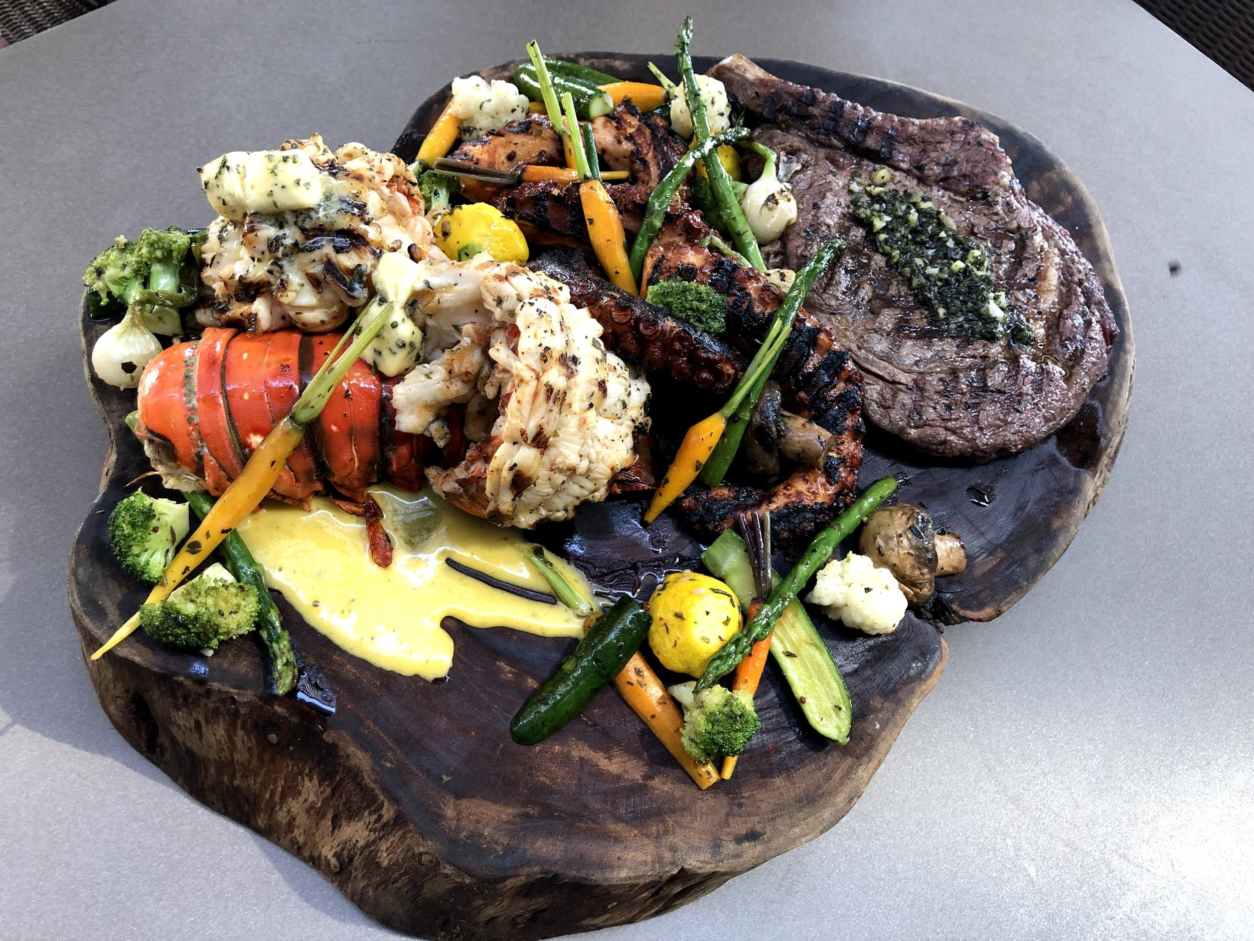 Grilled seafood @ Ua, Culinary Artisans, inside the JW Marriott Los Cabos