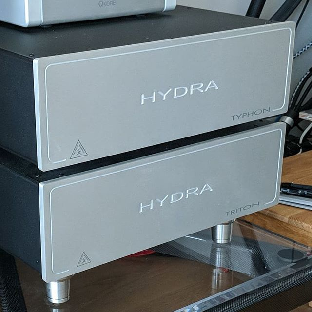 Shunyata Triton V3 and the new Typhon QR.  We just got the new Typhon QR in and will have some feedback in a week or so.  #audiophiles #audioporn