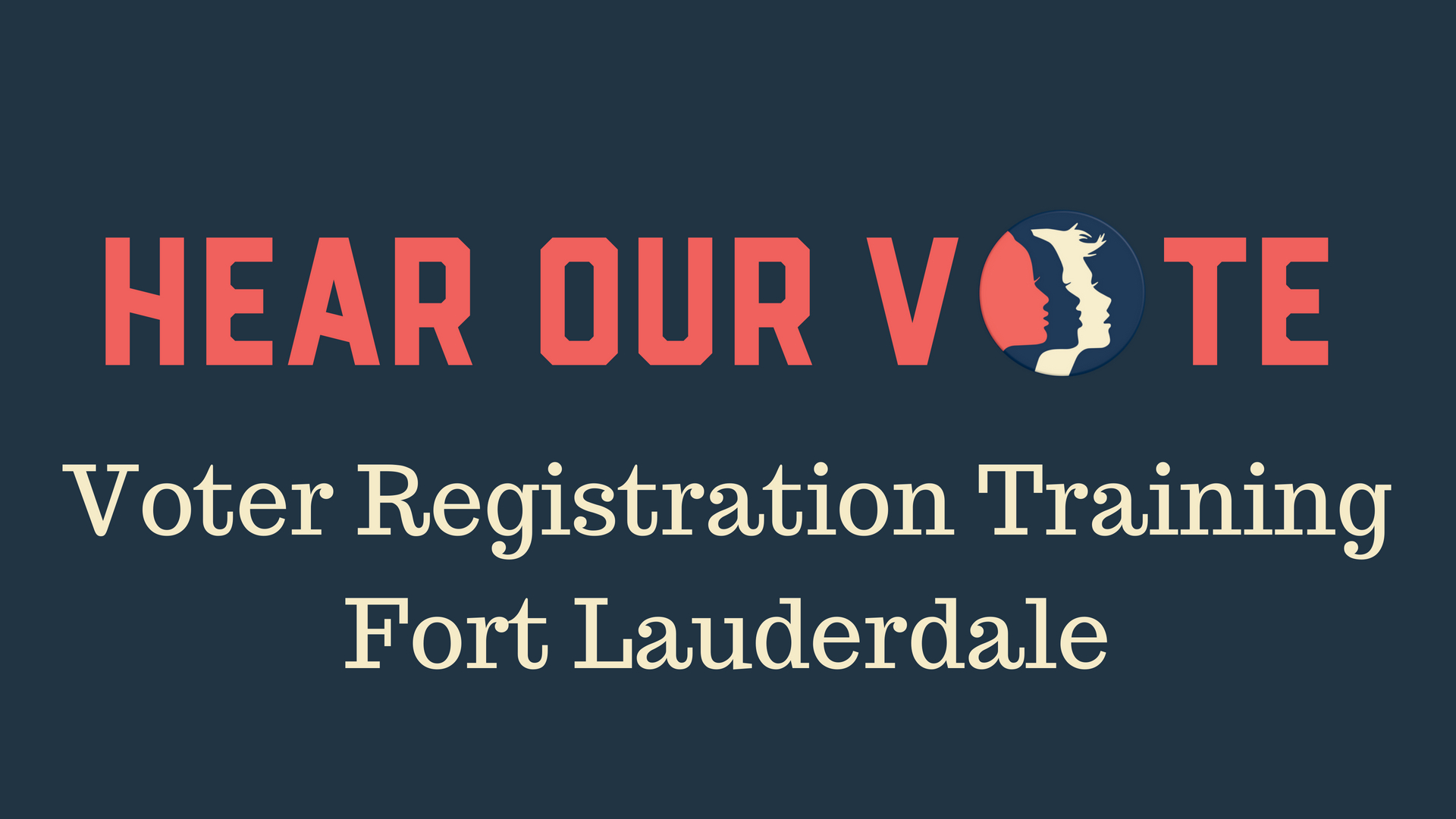 5-19-18: Voter Registration Training Session - On Saturday, May 19th, Women's March Broward will host a Voter Registration Training Session. Votes can and do change history. Voting builds a stronger democracy by providing people a voice, and giving people the ability to vote can empower them to make an impact on current legislation and policy. With this training you can join us at Voter Registrations Drives throughout Broward County as we work through November to turn Florida BLUE. Please join us to learn what you can do to help. We hope to see you there!