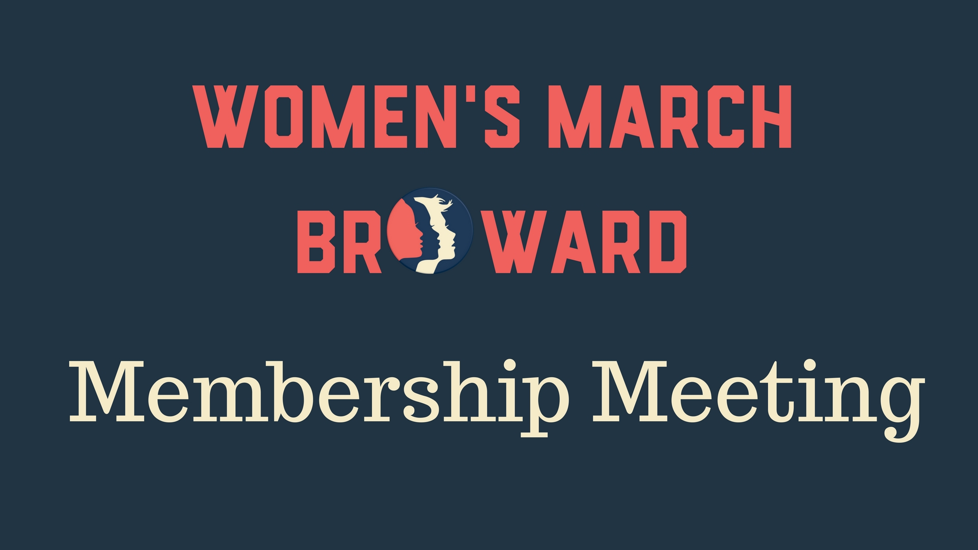 6-14-18: Membership Meeting - Please join Women's March Broward at our Membership Meeting where we will be hearing the Broward County Supervisor of Elections Outreach office. We will be informed on the election process in Broward County, voter education, and outreach in the community. We will update the event with more speakers shortly.We will also be updating everyone on our current Power to the Polls work in Broward County. Come out and learn how you can join us in registering voters, researching local, state, and national candidates, and all the 2018 legislative ballot items. Please RSVP as soon as you can so we can ask the venue to have the appropriate amount of staff working the event. :)We look forward to seeing you on June 14th!