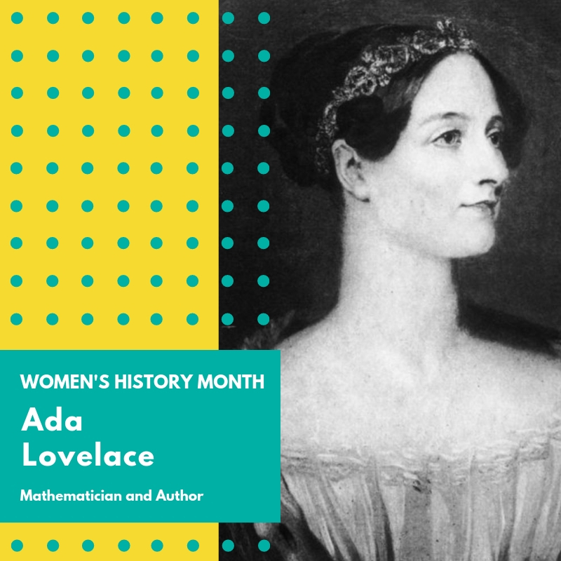 "Day 11: Ada Lovelace - Augusta Ada Byron, Countess of Lovelace also known as Ada Lovelace, was a gifted mathematician and credited with writing instructions for the first computer program in the mid-1800's. The daughter of famed poet Lord Byron, Ada showed an aptitude for mathematics at an early age. She introduced many computer concepts and was considered the first computer programmer.Growing up as an aristocrat she was tutored from a young age in subjects such as math and science. Although unusual for girls to study these subjects at the time it was her mother who insisted upon it because she didn't want her to develop her father's moody temperament. Incidentally one of her tutors was Mary Somerville, a Scottish astronomer and mathematician and was one of the first women to be admitted into the Royal Astronomical Society.At the age of 17 years old, Ada met Charles Babbage who was a mathematician and inventor . He became a mentor to her and it was through him that she was able to study Advanced Mathematics with University of London professor Augustus de Morgan.Babbage, father of the first computer invented the difference engine, which was designed to solve mathematical equations, in addition to the Analytical engine which could solve more complex equations. Ada was tasked with translating an article on the analytical engine from French to English. While doing so she added some of her own thoughts on processes including what modern day computer science now refers to as ""looping"". Her article was largely ignored at the time it was written, and only rediscovered in the 1950's. As a result she received posthumous honors for her work, and in 1980, the U.S. Department of Defense named a computer language ""Ada"" in her honor. Ada died in London from Uterine Cancer in 1852. She paved the way for young women to be able to excel in areas of study such as math and computer science. 🌸🌸🌸 #womenshistorymonth #womensmarchbroward #womensmarchflorida #adalovelace"