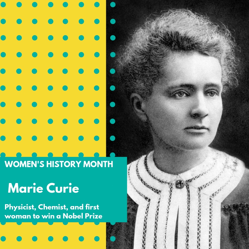 Day 26: Marie Curie - Marie Curie was a Polish and naturalized-French physicist and chemist who conducted pioneering research on radioactivity. She was the first woman to win a Nobel Prize, the first person and only woman to win twice, and the only person to win a Nobel Prize in two different sciences. She was part of the Curie family legacy of five Nobel Prizes. She was also the first woman to become a professor at the University of Paris, and in 1995 became the first woman to be entombed on her own merits in the Panthéon in Paris.Her achievements included the development of the theory of radioactivity (a term that she coined), techniques for isolating radioactive isotopes, and the discovery of two elements, polonium, and radium. Under her direction, the world's first studies into the treatment of neoplasms were conducted using radioactive isotopes. She founded the Curie Institutes in Paris and in Warsaw, which remain major centers of medical research today. During World War I she developed mobile radiography units to provide X-ray services to field hospitals.Marie Curie shared the 1903 Nobel Prize in Physics with her husband Pierre Curie and physicist Henri Becquerel. She won the 1911 Nobel Prize in Chemistry. This award was