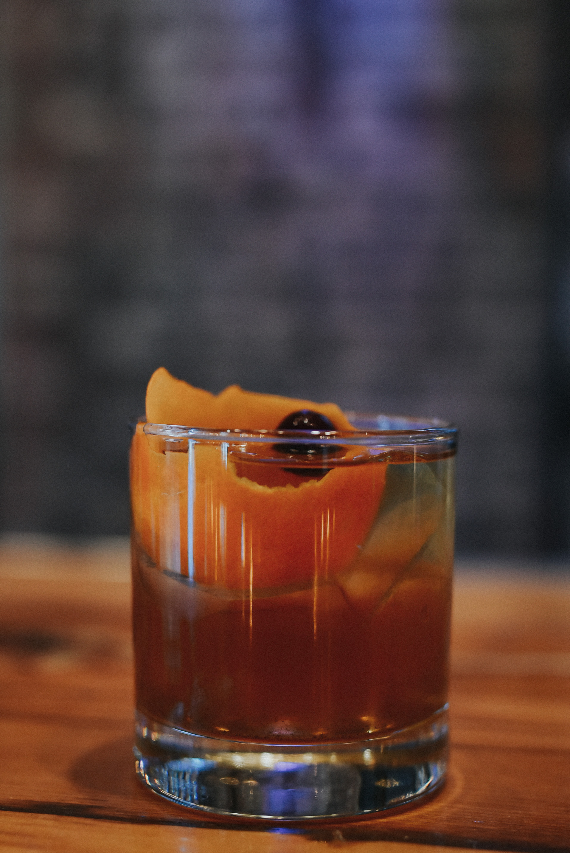 Fall Fashion - Pendelton Rye Whiskey, Lairds Applejack, house-made spiced demerara, cranberry bitters