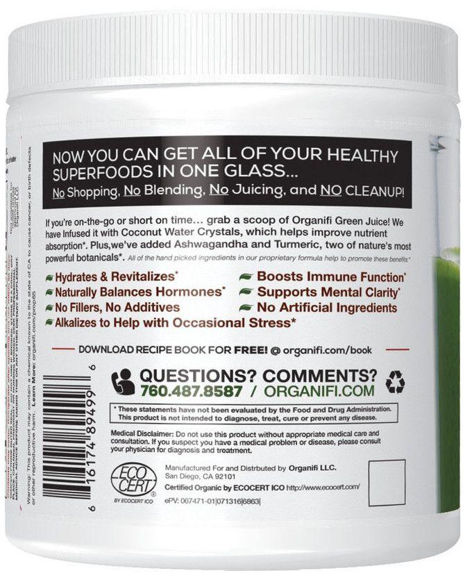 Green Juice Label Back Promo