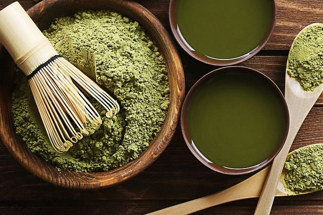 Matcha Green Tea Powder and Tea