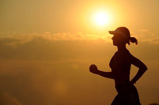 Girl Running During Sunset