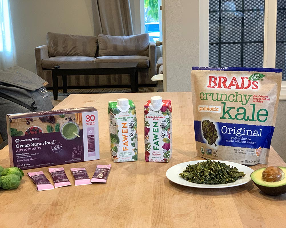 Amazing Grass, Fawen Soups, and Brad's Kale Chips