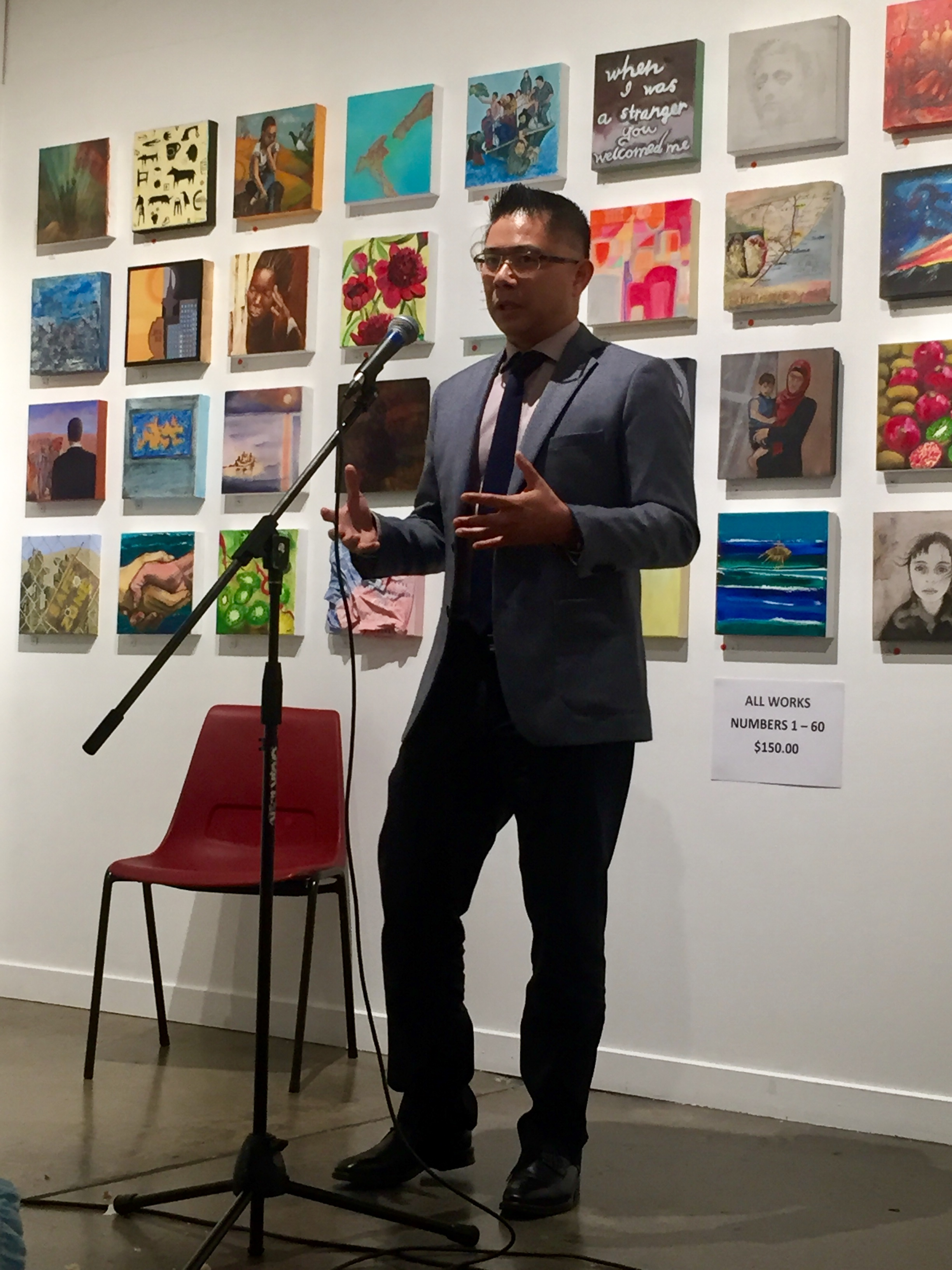 WORLD REFUGEE DAY - Trustee and founding member, Mitchell Pham shares his story at an event to celebrate World Refugee Day.