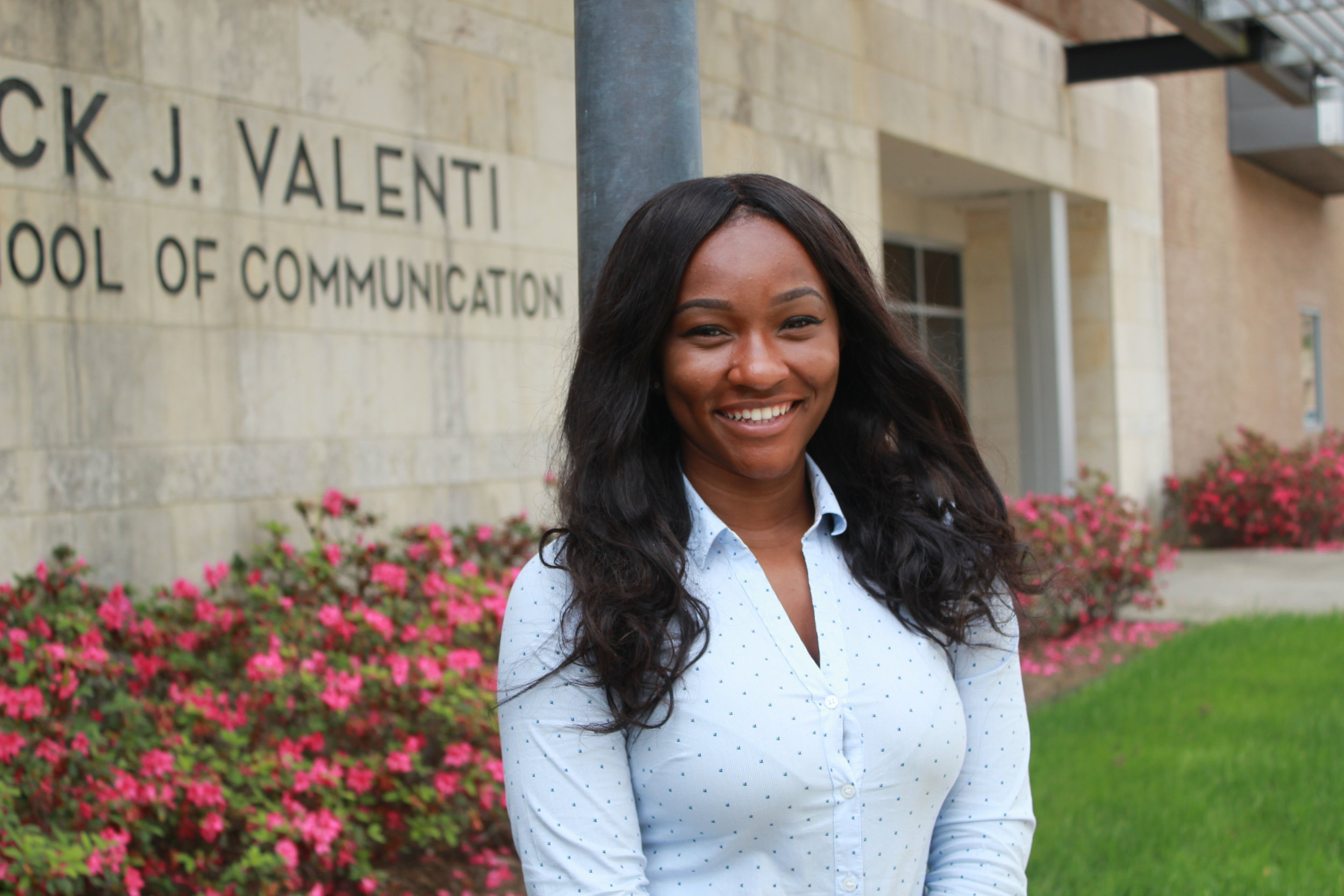 "Courtney Goodson, a junior at the Valenti School of Communication is pursuing a career in journalism. She wants to use her degree as a stepping-stone to become an influential broadcaster. Former host of Coog TV's show ""In The Game"". She has interned for ESPN 97.5 Houston most recently as an Audio Engineer and editor working her way up the latter. She serves as 1 of 2 hosts for the sports and entertainment Vlogcast show ""Breadwinners"" that is filmed in the studios of Valenti. Not only is Courtney pursuing sports journalism, but she has already gained years of experience in the Public Relations industry working for sports complexes and BMW. Hoop for Harvey and Texas Grid Iron are just a few events that she has put together to help kids, adults, and families in need. She will partner with Valenti this summer to film a summer series with her show Breadwinners at local Houston eateries."