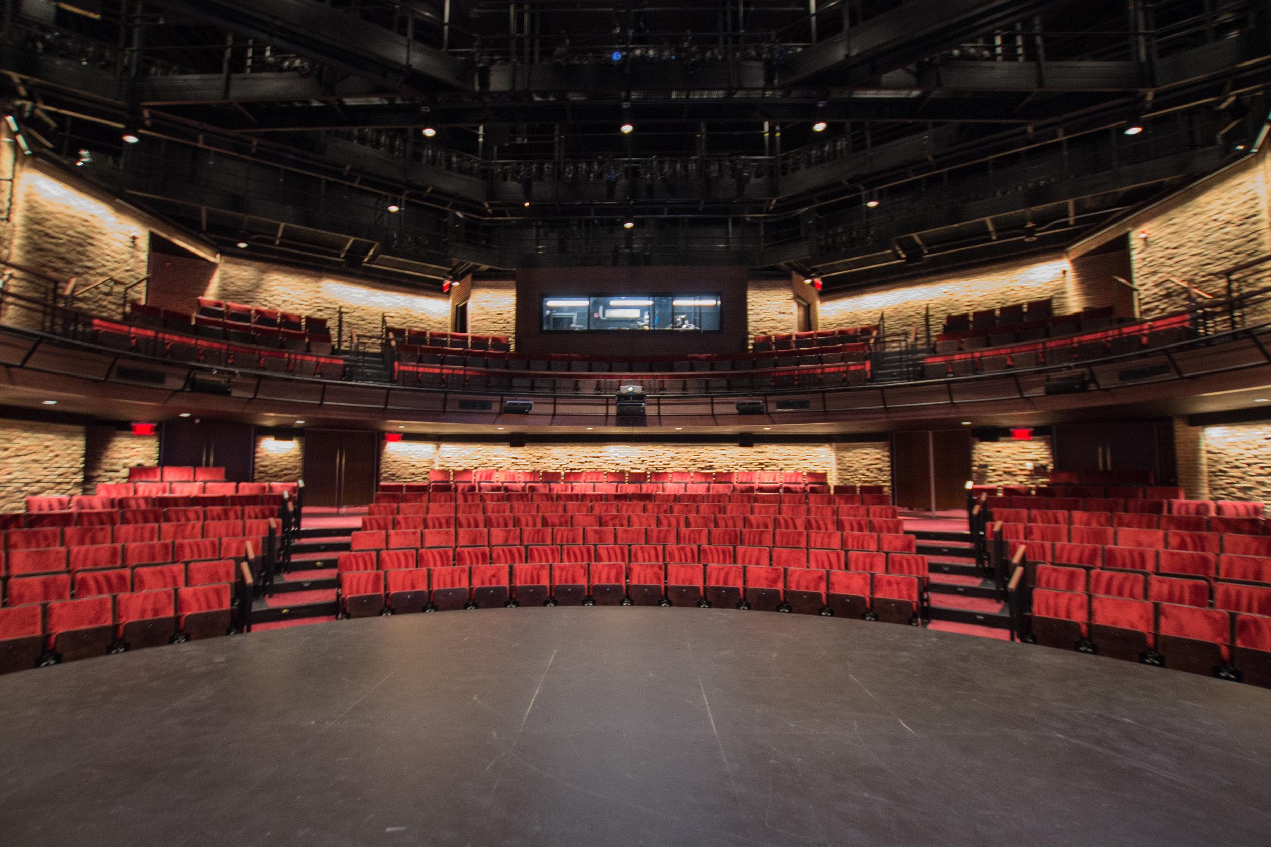 August 2019  - A view from the new flexible, thrust stage.