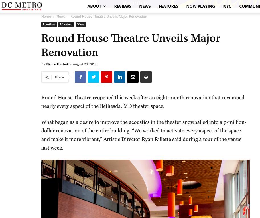 August 2019 -  DC Metro Theatre Arts