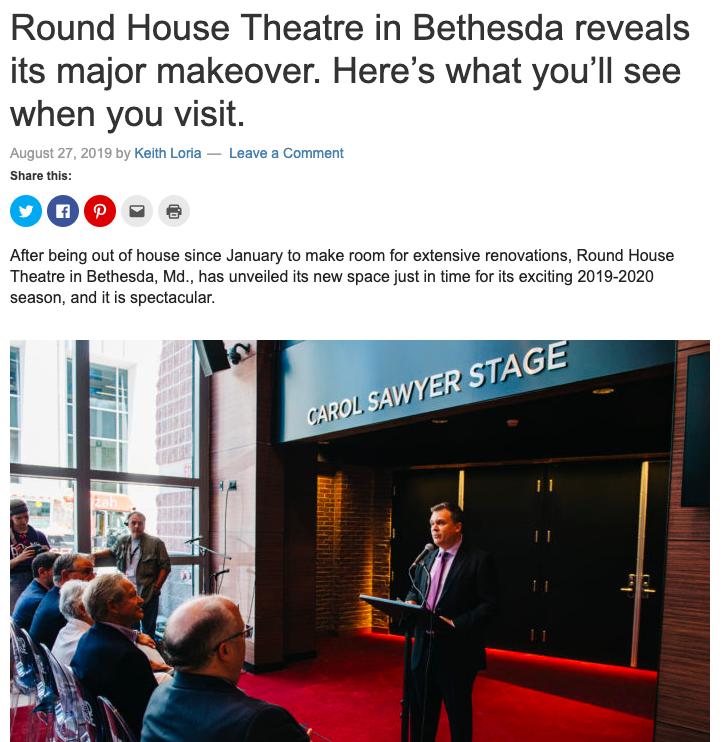 August 2019  - DC Theatre Scene