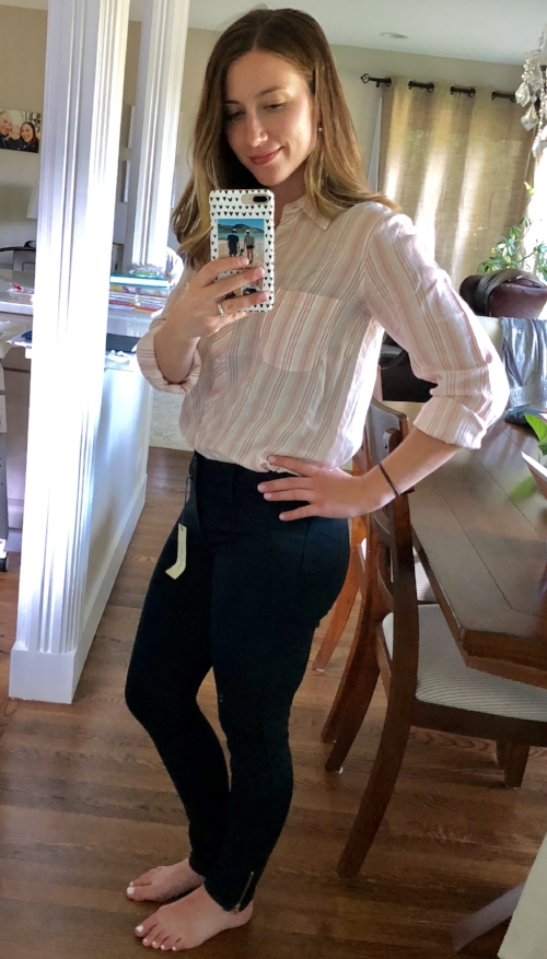 41 Hawthorn Zoe Essential Ankle Zip Skinny Pant | Stitch Fix Review | Project Managing Mama