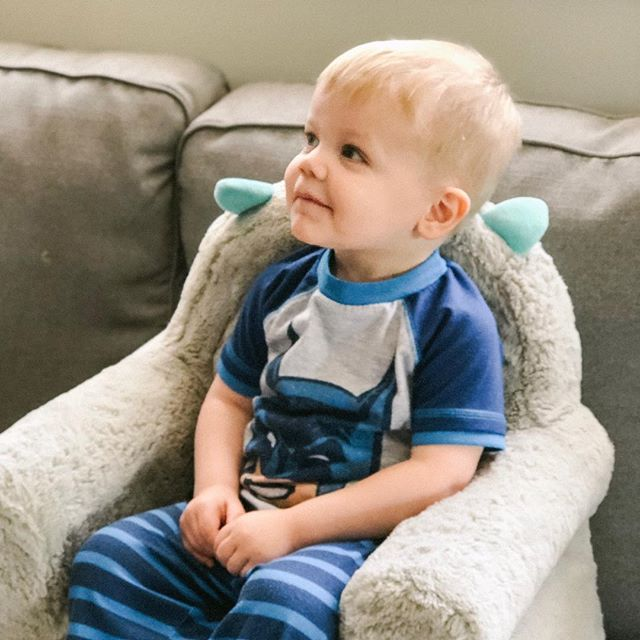 Batman pajamas, couch on a couch...what more could you want?! Happy Saturday!! ☀️
