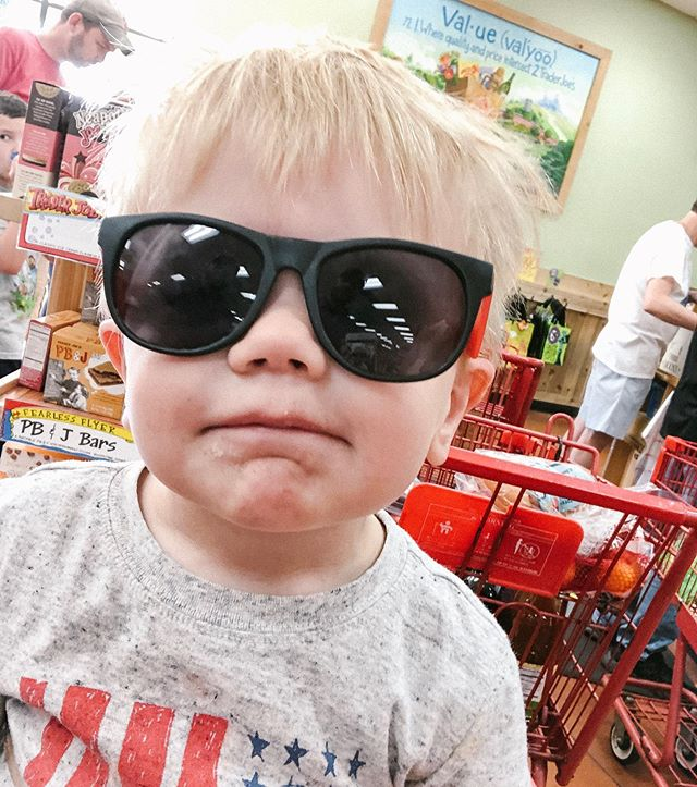 His future is so bright, he has to wear shades 😎 Happy Monday, friends!