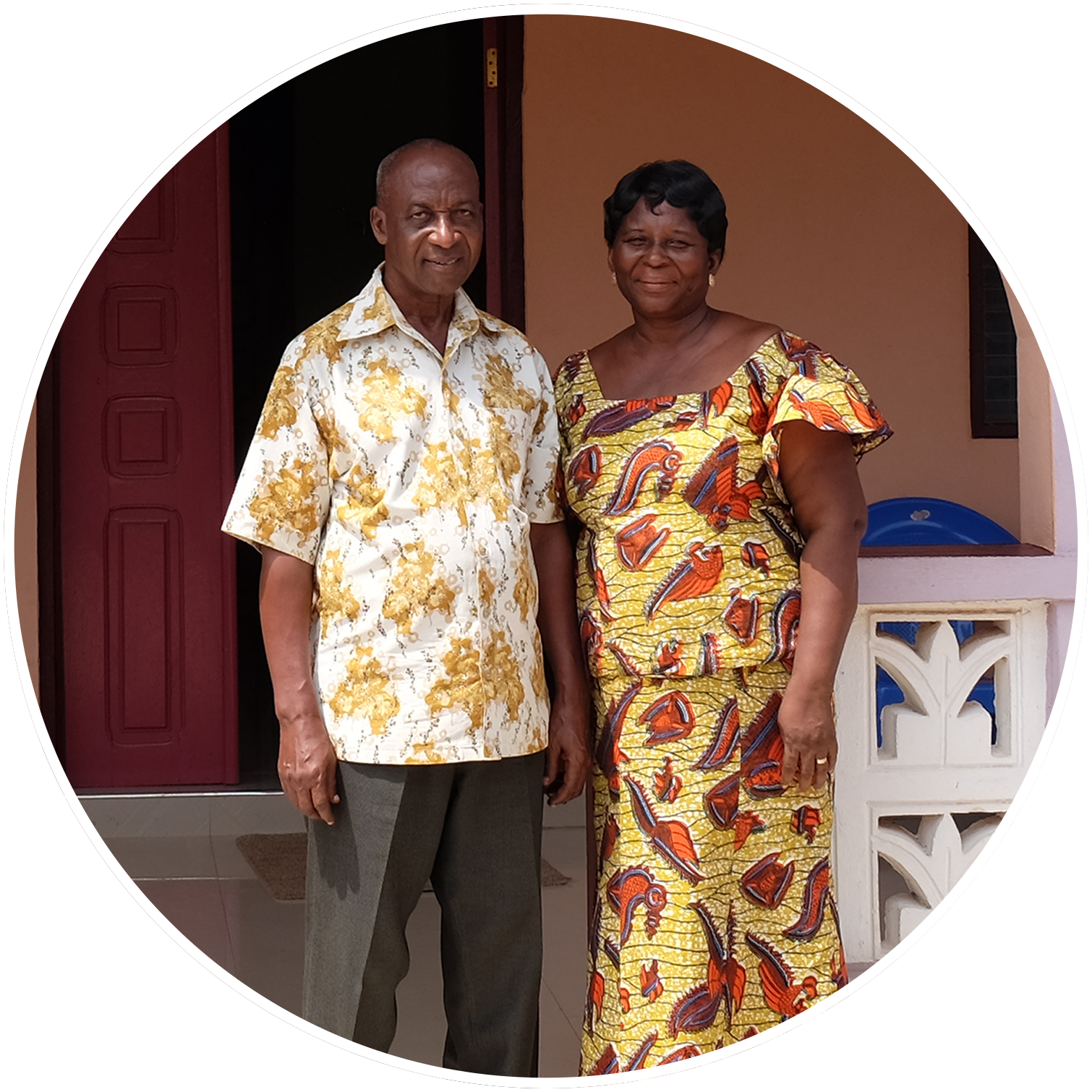 Bernard & Celestine - Bernard & Celestine are our in-country directors, responsible for overseeing everything from finances and building repairs, to spiritual growth and maturation of the girls. Unofficially, they function as grandparents to all at the Yellow House. They have been a part of Eight Oaks since the very beginning and the success of our organization is owed in large part to their dedication and passion for this work.