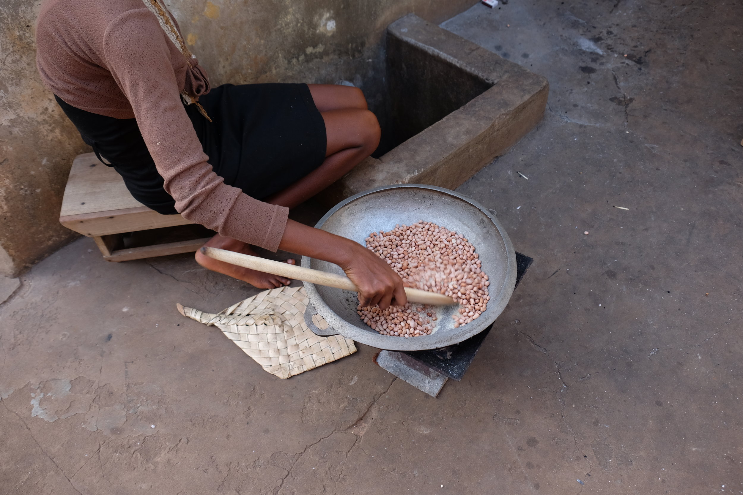 God's Way toasted them and we ate them in the courtyard in the afternoon. I LOVE Saturdays in Ghana.