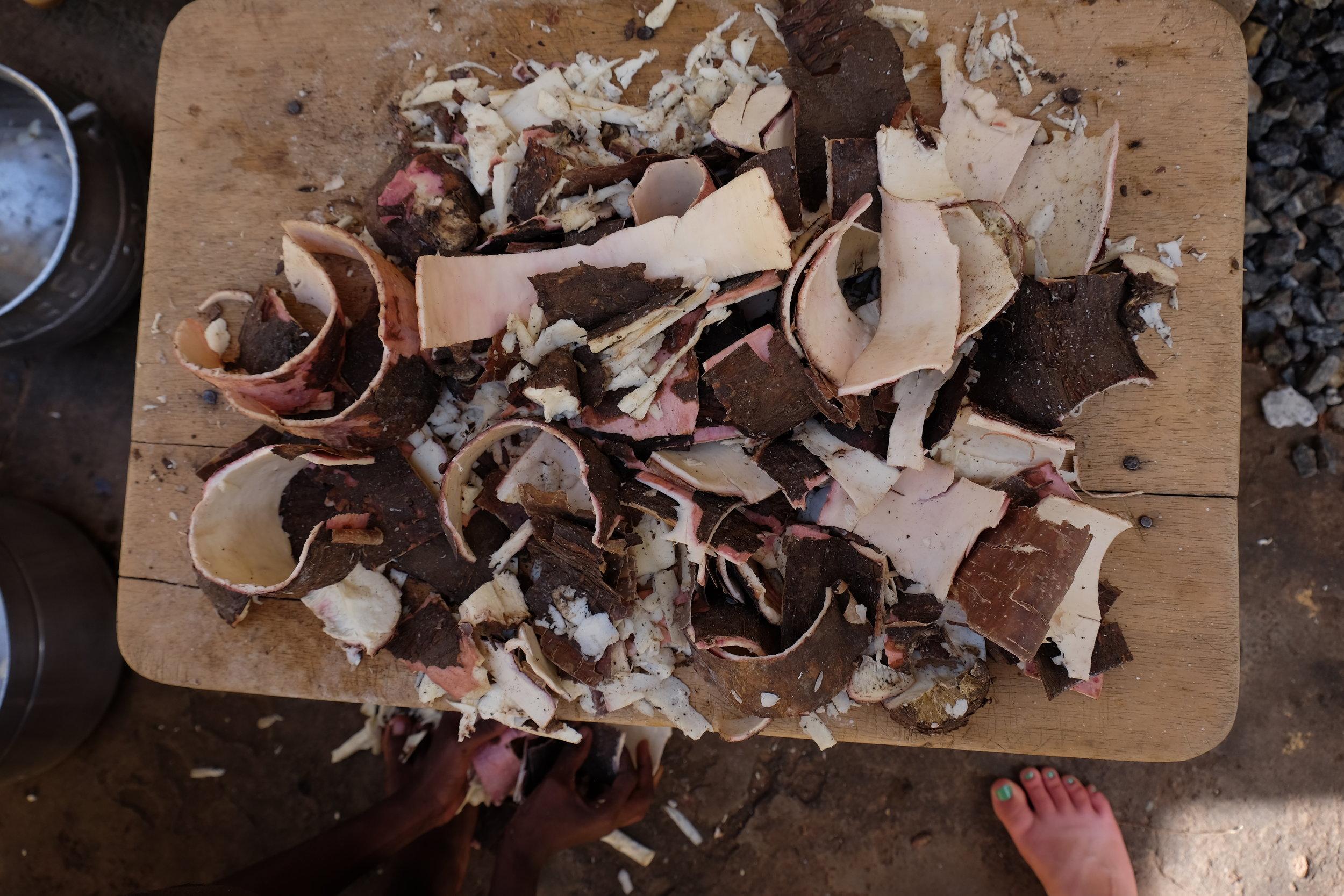 Cassava scraps