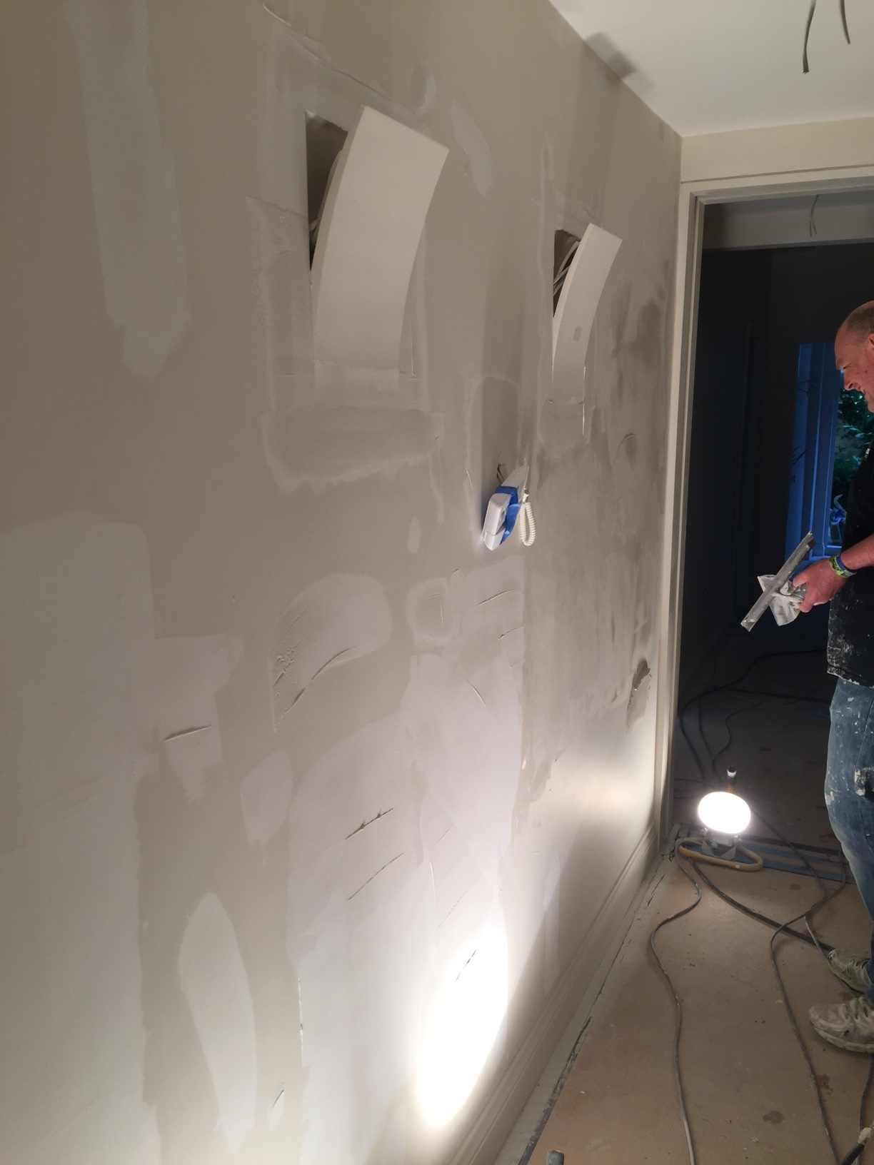 Demolition and new build | London | Wall plastering
