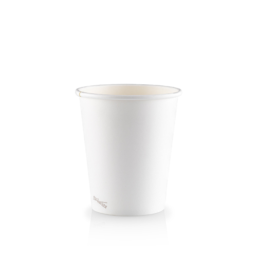 8oz Single Wall PLA Skinny White - This cup uses the same sized lid as all our cups in the Skinny series (6oz and 12oz).Paper Cup Project cups are lined with a renewable plant based material which can be recycled or composted.Packaging Specifications:1000 units per cartonSuitable LidBlack Lid Fits 6oz | 8oz | 12oz Skinny CupsWhite Lid Fits 6oz | 8oz | 12oz Skinny CupsCompostable Lid Fits 6oz | 8oz | 12oz Skinny CupsSkinny Range Or Short Range? Click here to see which is right for you.