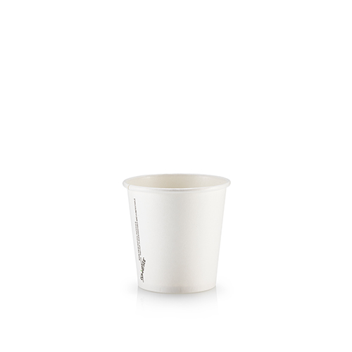 4oz Single Wall PLA White - Paper Cup Project cups are lined with a renewable plant based material which can be recycled or composted.Packaging Specifications:1000 units per cartonSuitable LidWhite Lid Fits 4oz CupsBlack Lid Fits 4oz Cups