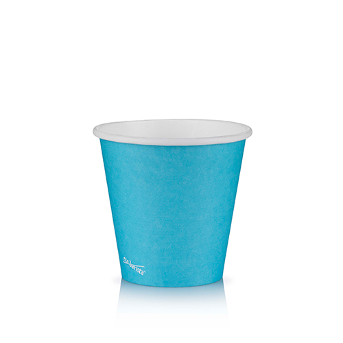 8oz Single Wall PLA Short Blue - This cup uses the same sized lid as all our cups in the Short series (12oz and 16oz).Paper Cup Project cups are lined with a renewable plant based material which can be recycled or composted.Packaging Specifications:1000 units per cartonSuitable LidBlack Lid Fits 8oz | 12oz | 16oz Short CupsWhite Lid Fits 8oz | 12oz | 16oz Short CupsSkinny Range Or Short Range? Click here to see which is right for you.