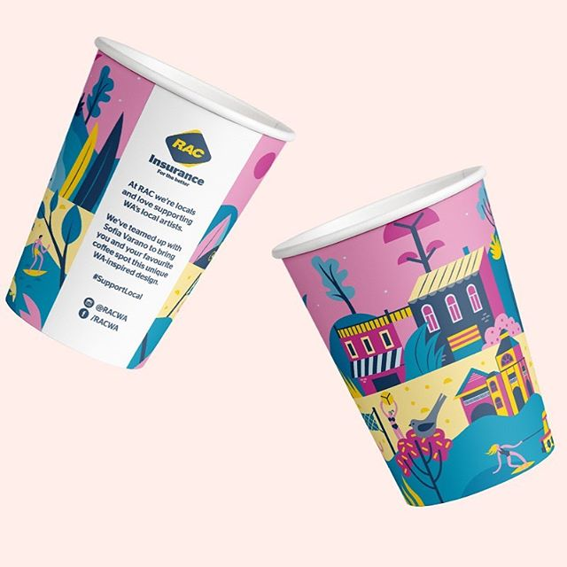NEW! NOW! 🙌🏼 @RACWA are locals, and they love supporting the Perth community as much as we do 💕 Hence the brand spanking new PCP cup ft. the vibrant work of @sofia_varano_illustrations ☕️#papercupproject #supportlocal . . . .  #perthcafe #perthcoffee #perthcharity #perthbest #perthtodo #perthdrink #supportlocal #perthart #perthcreatives #perthlife #perthblog #perthblogger #perthrestaurant #coffee #cafe #perthblog #perthblogger #perthtodo #togo #takeawaycoffee #giveback #donate #compostable #coffeecup