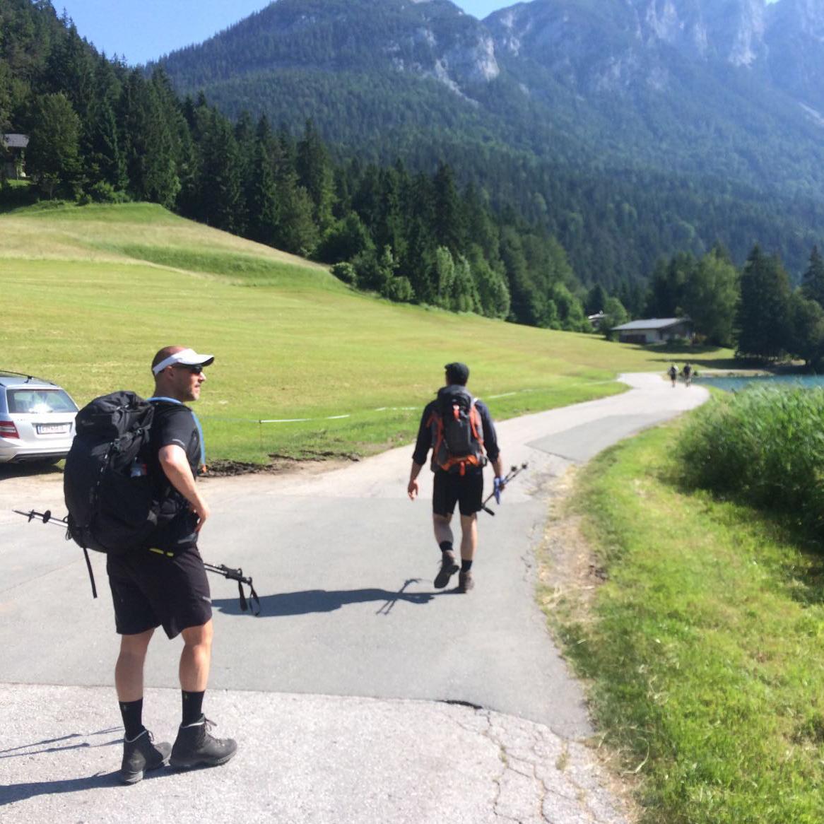 Start in den Alpen